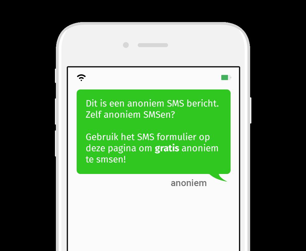 voorbeeld van anonieme SMS